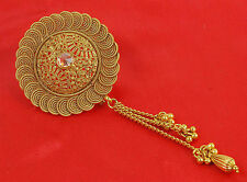 Bollywood Hair & Head Jewelry Gold Tone Bun Pin Indian Hair Accessories HP-74
