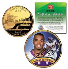 ADRIAN PETERSON Rookie VIKINGS GOLD Minnesota State Quarter