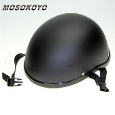 Motorcycle Helmet Skull Cap Low Profile Novelty Matte Black For Harley Chopper