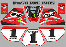 pw50 decals graphics yamaha pw 50 personal peewee laminated stickers old red