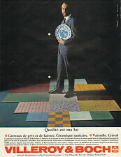Publicité Advertising 1963 VILLEROY & BOCH  carreaux de grès faience céramique