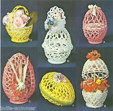 ~ Vintage Crochet Easter Eggs & Baskets Reproduction Crochet Pattern!