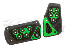 GUNMETAL GREEN BRAKE GAS PEDAL PADS FOR CROSSFIRE CHALLENGER WRANGLER AUTOMATIC