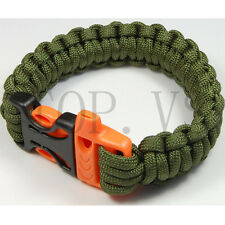 550 Paracord Parachute Cord Military Survival Bracelet Tool Camping Whistle #2