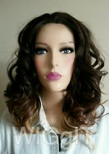 CORAL | DIPDYE | MEDIUM CURLY SYNTHETIC LACE FRONT WIG | SLEEK FASHION IDOL 101