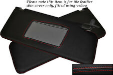 RED STITCH FITS HONDA PRELUDE MK5 1997-2001 2X SUN VISORS LEATHER COVERS
