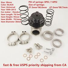 NEW WASTEGATE For TIAL MVS 38mm Black With V-BAND AND FLANGES MV-S FREE SHIPPING