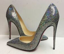 Christian Louboutin So Kate 120 Glitter Disco Ball Heels Pumps Shoes 38
