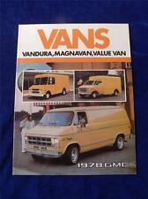 GMC 1978 VANS SALES BROCHURE VANDURA MAGNAVAN VALUE VAN CANADA