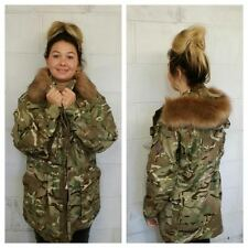WOMEN'S CAMOUFLAGE ARMY JACKET - FUR HOOD - VINTAGE FASHION - WOMEN'S - WINTER