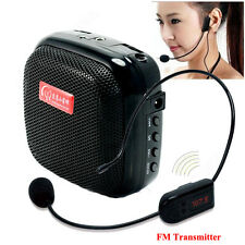 Portable Waistband Voice Booster PA Amplifier Loud Speaker Wireless Microphone