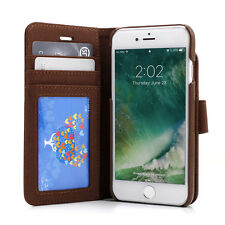 "Prodigee Wallegee Brown iPhone 7 4.7""  2in1 Card Wallet Leather Flip Case Cover"