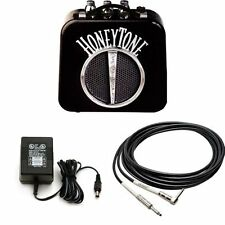 Danelectro N10b Honey Tone Mini Amp In Black With 9v Power Adapter And 5-foot R