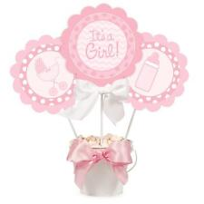 Its A Girl New Baby Centrepiece Sticks & Sign Decorations x 3