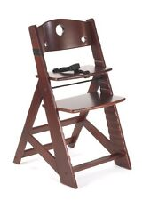 KEEKAROO HEIGHT RIGHT ADJUSTABLE WOODEN HIGH CHAIR BABY KIDS' - MAHOGANY - NEW