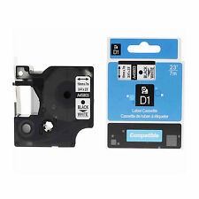 1 PK Black on White Label Tape 8m Compatible For DYMO 45803 D1 LabelManager 300