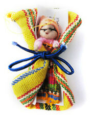 Fair Trade - 2 x Large Guatemalan Worry Doll in drawstring bag