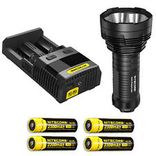 Nitecore TM16GT Flashlight, XP-L HI V3 LED w/SC2 Charger & 4x NL183 Batteries