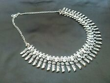 ELEGANT LOOKING SILVER PLATED OXIDISED NECKLACE FOR GOSSIP GIRLS AND WOMEN,,NEW
