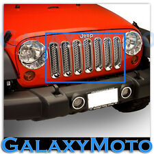 07-15 Jeep JK Wrangler Chrome Trim 7pc Grille Cover Insert Mesh Grill Shell 2015