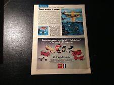 Advertising Italian Pubblicità Werbung: LEGO LEGOLAND **1970**