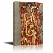 "Hygeia (detail from Medicine) by Gustav Klimt - Canvas Print Wall Art- 16"" x 24"""