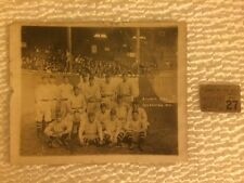 RARE Old Antique 1920 Atlanta Crackers Baseball Team Photo w Ticket Stub GEORGIA