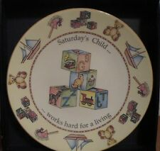 ROYAL WORCESTER SATURDAY'S CHILD WORKS HARD FOR A LIVING PLATE