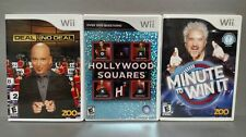 Deal No Deal Minute to Win It Hollywood Squares TV Game Show Nintendo Wii Bundle