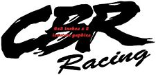 cbr racing x2,left,right tank,helmet,motorbike wings vinyl graphic decal sticker