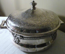 ANTIQUE OLD ENGLISH REPRODUCTION SILVER PLATE ON COPPER # 8205 SERVING BOWL LID