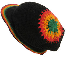 Rasta VISOR Jamaica Hat - Black (Design R4R0129) - FREE UK P&P !