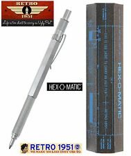 Retro 51 #HEX-615BP / Hex-O-Matic Ball Point Pen in Silver