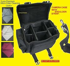 LARGE CAMERA BAG CASE +3cloth to  Canon REBEL EOS 6D 60D 40D 70D X6i X5 T6I T6