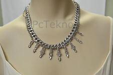 Urban Outfitters Chunky Frosted Chainlink Statement Necklace -NEW