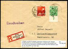 SBZ HANDSTEMPEL 181I BERLIN in MIF R-BRIEF WESTVERWENDUNG(D4860