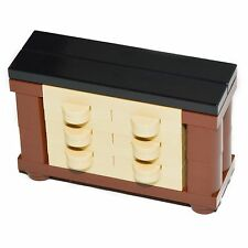 LEGO Furniture: Bedroom Dresser Set - Fancy 6 Drawer Design for Minifigure Home