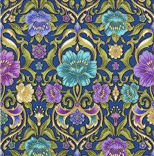 Grand Majolica - Lapis blue /Gold  by Robert Kaufman  cotton fabric