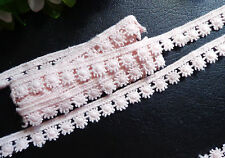 pink  cotton lace trim 1/2 inch wide selling by the yard