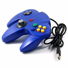 USB Nintendo N64 Style Joypad Controller Joystick For PC MAC Emulators Black UK