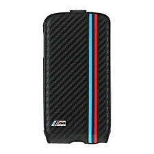 BMW M Collection Flip Cover für Samsung Galaxy S4 Carbon Schwarz Flap Case NEU