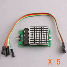 5Stk. MAX7219 Dot LED-Matrix-Modul MCU Steuerung LED Display Modul für Arduino