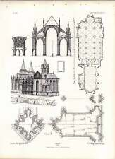 Gothic Oppenheim St Catherine Plan Church Cemetery Chapel Sections Mouldings