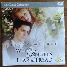 DVD - E.M FORSTERS WHERE ANGELS FEAR TO TREAD Helen Mirren - NEWSPAPER PROMOTION