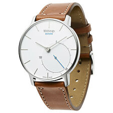 Withings Activité Activity & Sleep Tracker, Silver Brown Strap Watch (ML1178)