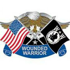 "PIN WOUNDED WARRIOR EAGLE ""FREEDOM ISN'T FREE"" (1-3/16"")"