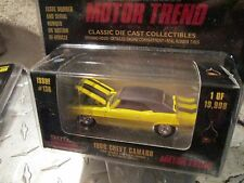 1969 CAMARO YELLOW Racing Champions RC ERTL MINT 1:57 about 3.25 MOTOR TREND