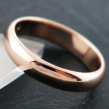 FS762 GENUINE REAL 18CT ROSE G/F GOLD HALF ROUND CLASSIC WEDDING BAND RING N
