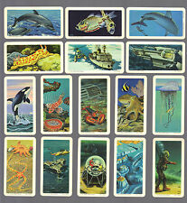 CIGARETTE/TRADE/CARDS.Brooke Bond Tea (Canada).EXPLORING THE OCEAN.(1971).(Set).