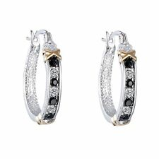 Fashion Women Elegant Crystal Rhinestone Silver Hoop Dangle Ear Stud Earrings